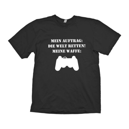 Printshop Landstrasse T Shirt Herren schwarz