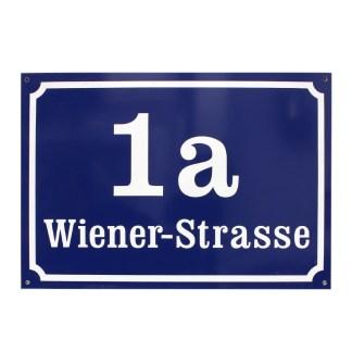 Printshop Landstrasse Hausnummernschild Wiener Norm