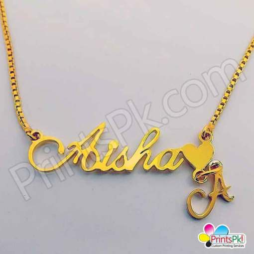 Aisha Name locket, Necklace,