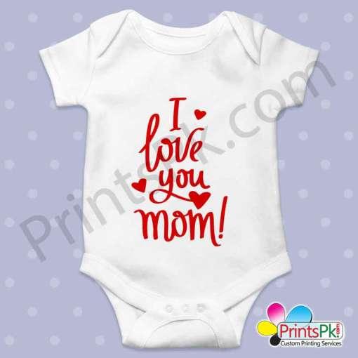 i love you mom romper