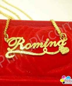 romina name locket customized necklace