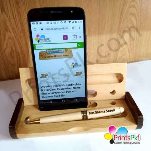Name Engraved Wooden Pen with Box