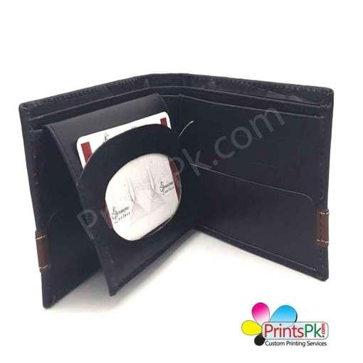 Black Crocodile Wallet inner pockets