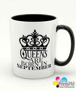 Queens are born in september mug.