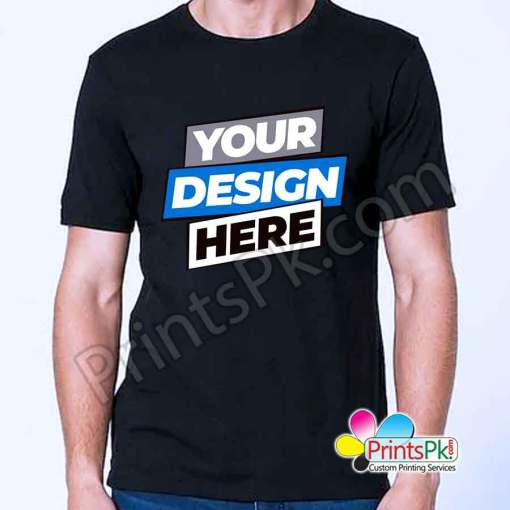 Customized Black T-Shirt