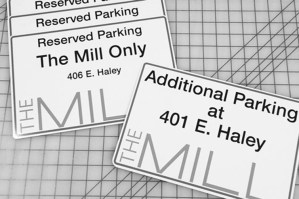 The Mill Reserved Parking Signs
