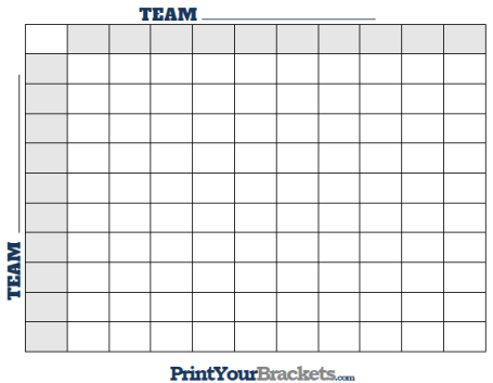 Eloquent image throughout super bowl grid printable