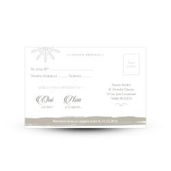 carton reponse rsvp mariage print