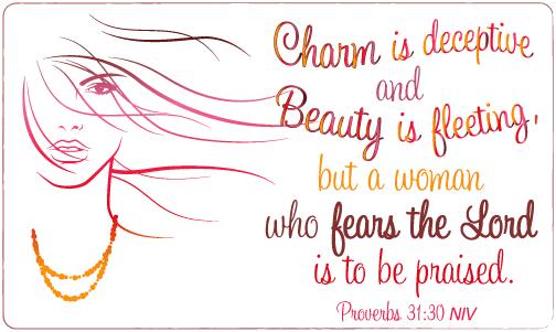 Scripture Art: Proverbs 31:30