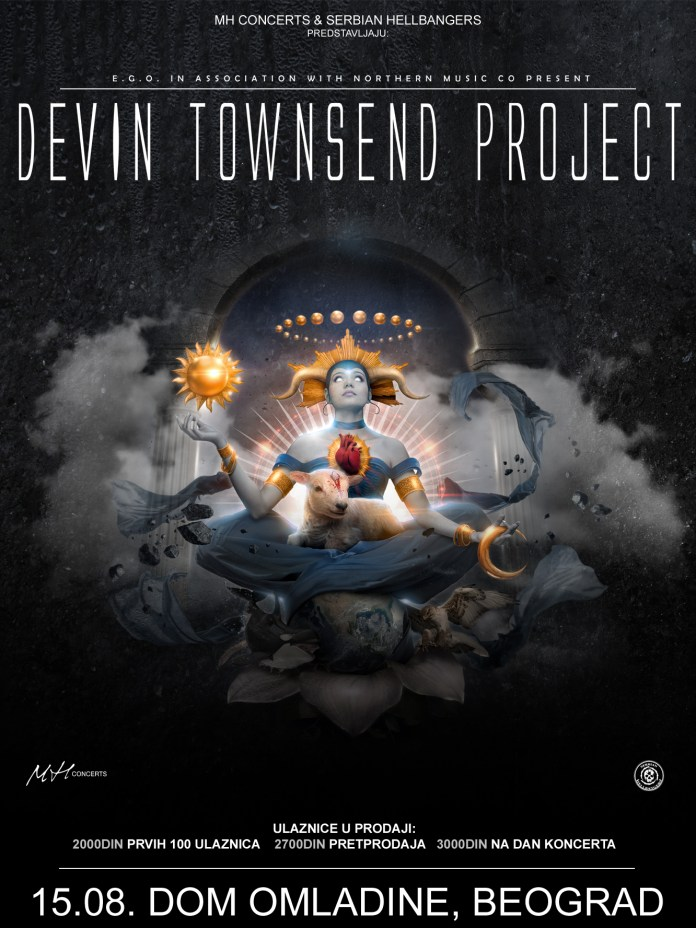 DEVIN TOWNSEND PROJECT - Dom omladine, Beograd - 15.08.2017.