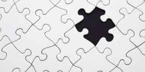 white jigsaw puzzle illustration
