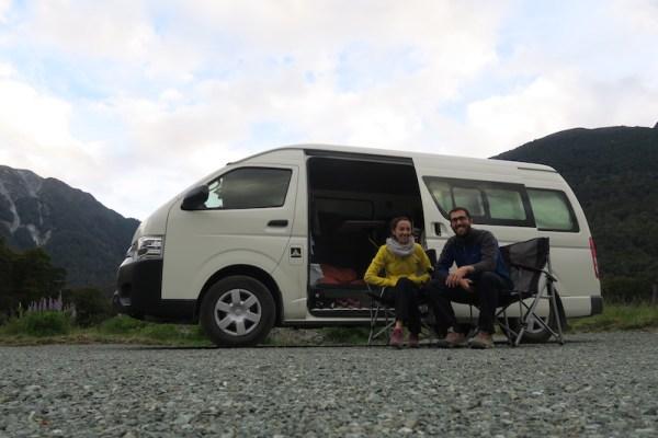nuestra furgo en Nueva Zelanda