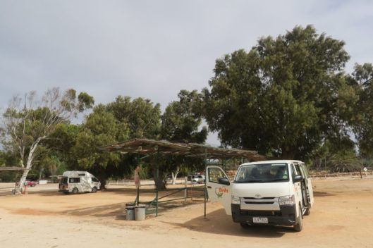 camping en la zona de Shark Bay