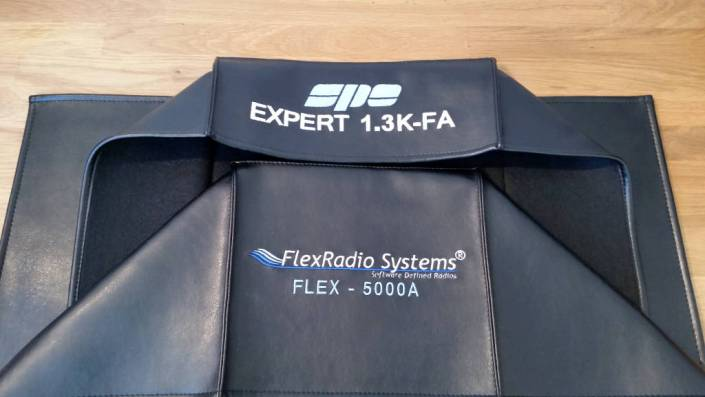DX Covers radio dust covesr for the SPE Expert 1.3K-FA and FlexRadio Systems 5000A