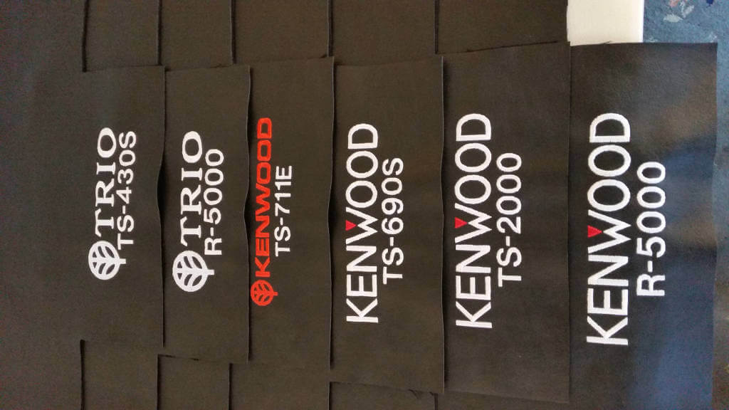 Kenwood and Trio DX Covers Radio dust cover being made