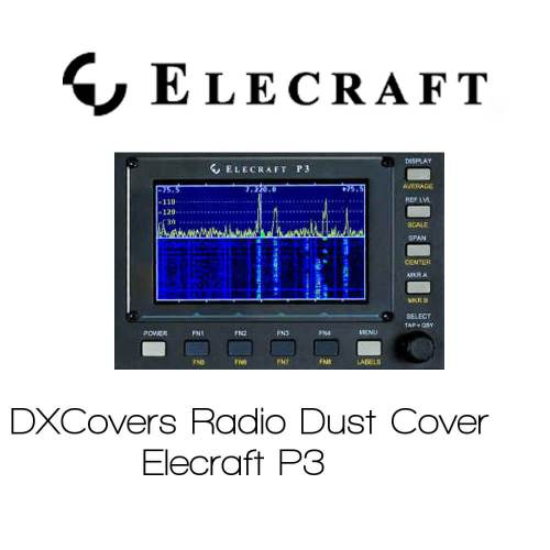 Elecraft P3 Prism Embroidery Radio Dust Covers shop logo