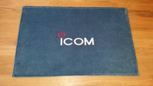 Icom shack mat peacock blue