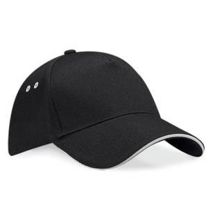 Black/Light Grey Baseball Cap for embroidery