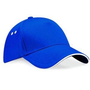 royal blue/white baseball cap