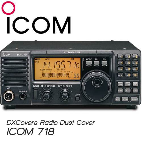 ICOM IC-718 Prism Embroidery Radio Dust Covers shop logo
