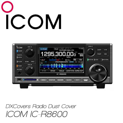 ICOM IC-R8600 Prism Embroidery Radio Dust Covers shop logo
