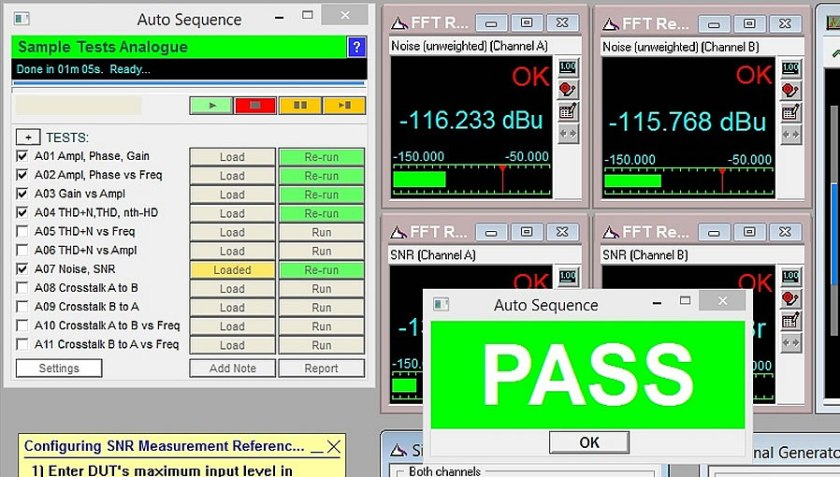 Screen Shot of Auto Sequence