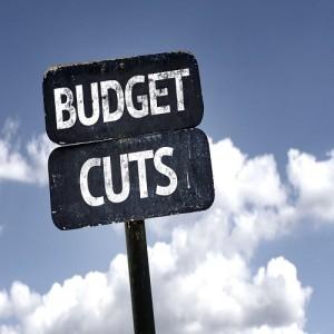 Budget cuts sign