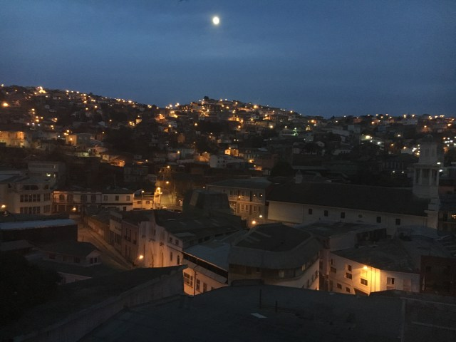 View from the place I was staying at in Valparaiso