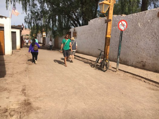 People walking on the streets of San Pedro