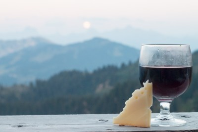 Picture of wine and cheese
