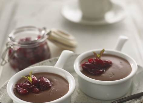 Black Cherry Chocolate Pots