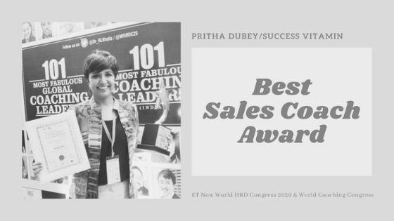 best sales coach award pritha dubey