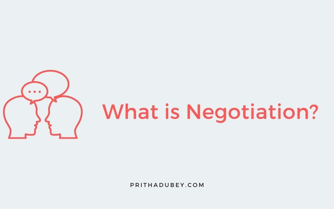 What is Negotiation? success vitamin pritha dubey