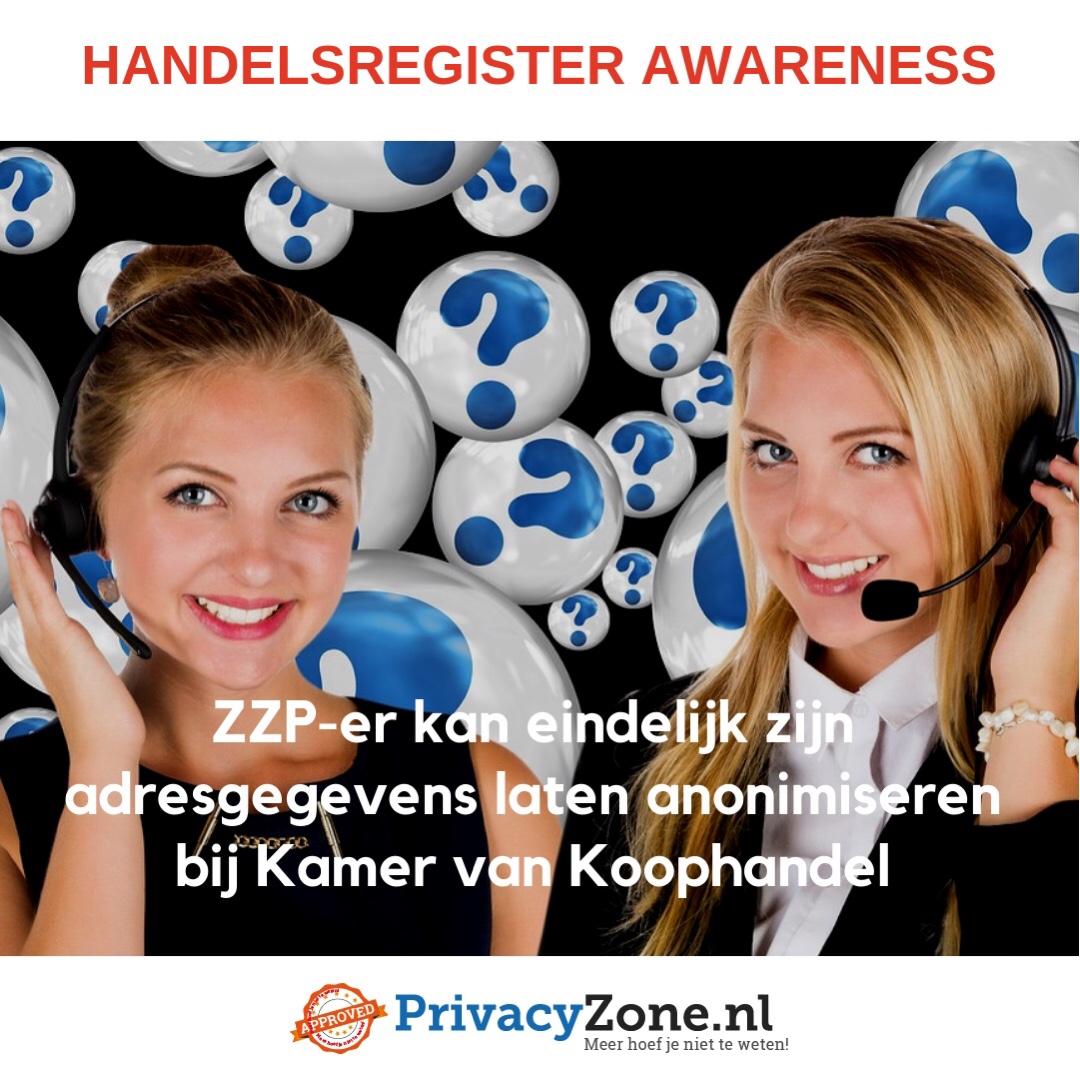ZZP-er kan eindelijk zijn adresgegevens laten anonimiseren bij Kamer van Koophandel