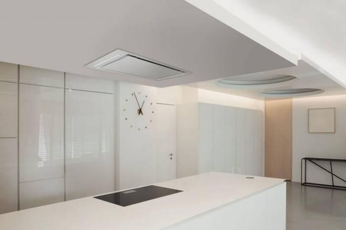 hotte plafond luisiair udine 110 cm coloris inox h95170015 luisiair