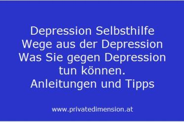 Depression Selbsthilfe