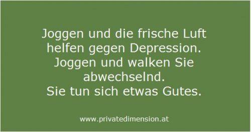 Joggen hilft gegen Depression
