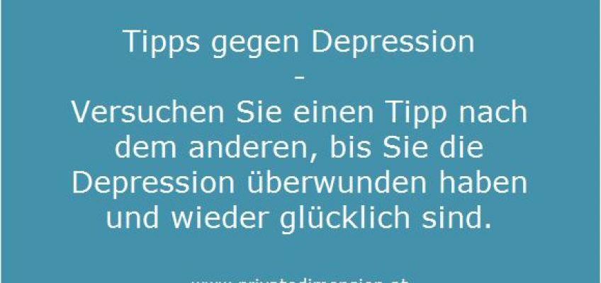 Tipps gegen Depression