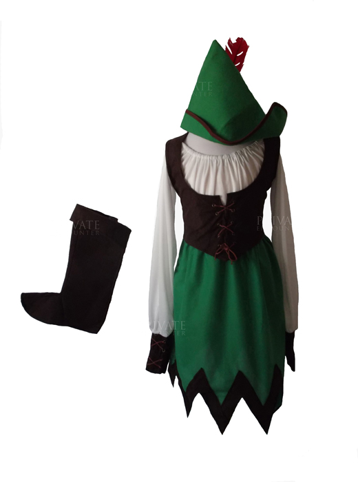 Girls Deluxe Medieval Robin Hood Fancy Dress Costume, World Book Day Age 7-9 years