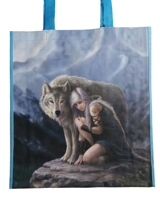 Anne Stokes Wolf Protector Design Fantasy Shopping Bag, Birthday Gift, Present