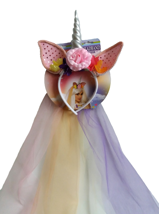 Colourful Unicorn Headband Fancy Dress Accessory, Fantasy, Fairy Tale,Halloween