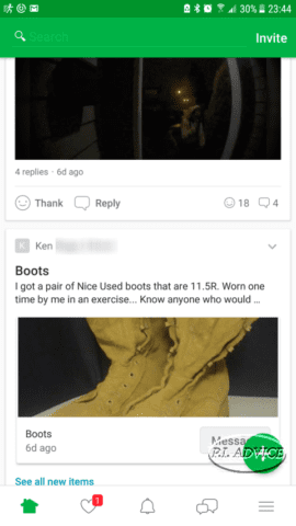 Selling on Nextdoor app