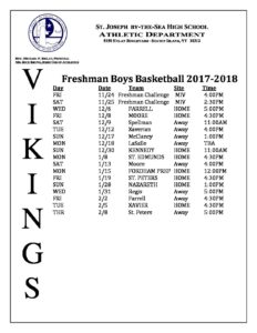 17-18 Freshman BOYS Basketall Schedule