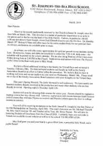 Father Reilly Letter March