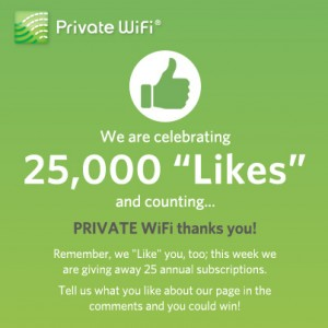 PRIVATE WiFi and Facebook Likes