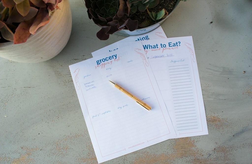 Free Printable Meal Planner!
