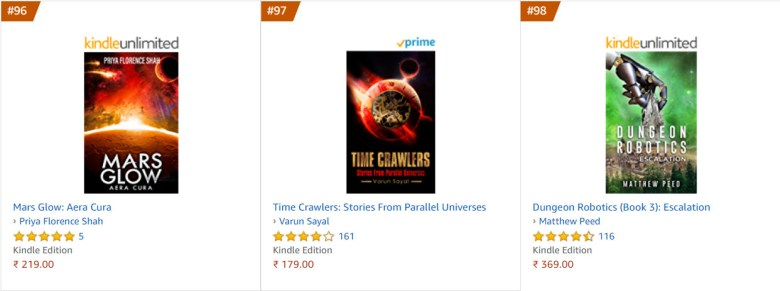 96 amazon india top 100 paid science fiction