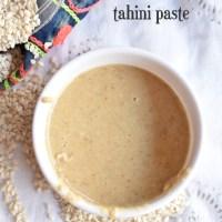 homemade tahini paste recipe | how to make best & easy tahini paste