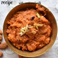 Gajar ka halwa recipe with condensed milk | how to make carrot halwa with milkmaid at home