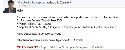 Christophe Beaugrand Jeune Talent